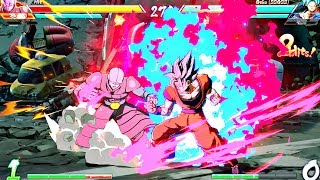 Dragon Ball FighterZ - Goku Black/Hit vs SSGSS Goku, Vegeta & Future Trunks