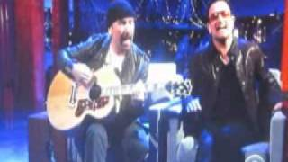 "Bono & The Edge  Of U2  - ""stuck In A Moment You Can't Get Out Of&q"