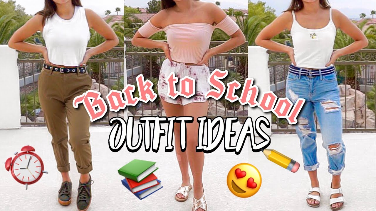 BACK TO SCHOOL OUTFIT IDEAS 2018-2019 | SCHOOL OUTFITS LOOK BOOK | PART 2 3