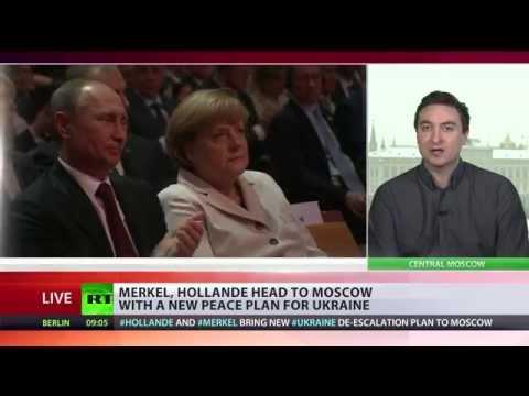 Merkel, Hollande to meet Putin in Moscow on Ukraine peace plan