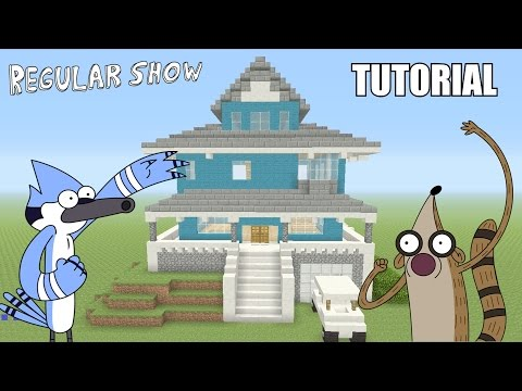 "Minecraft Tutorial: How To Make The ""Regular Show"" House! (Survival House)"