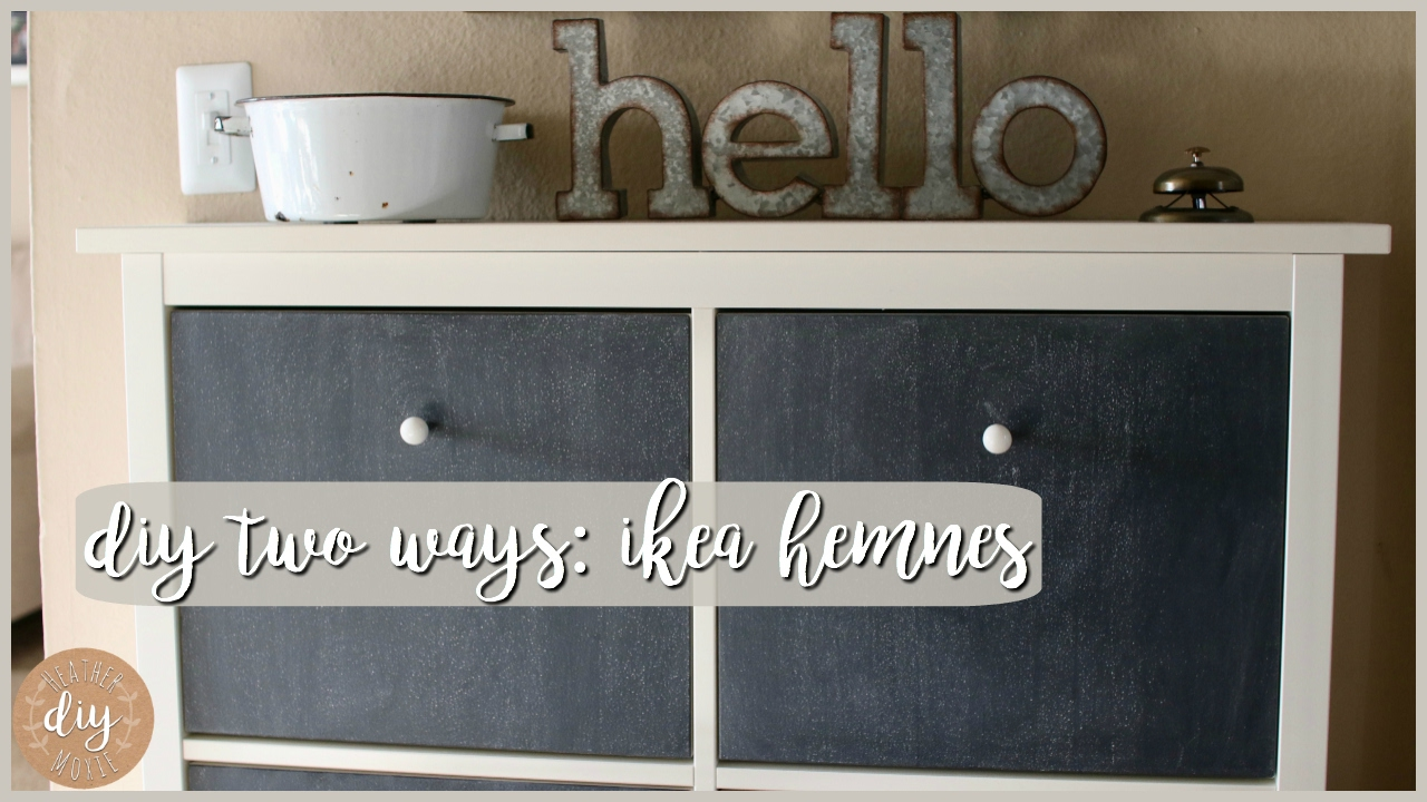 DIY Two Ways⎪Ikea Hemnes Shoe Cabinet - YouTube