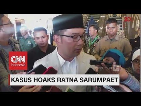 Ridwan Kamil Berharap Ratna Sarumpaet Minta Maaf Pada Warga Bandung
