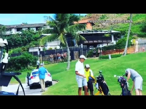 Former president Obama at Mid-Pacific Country Club