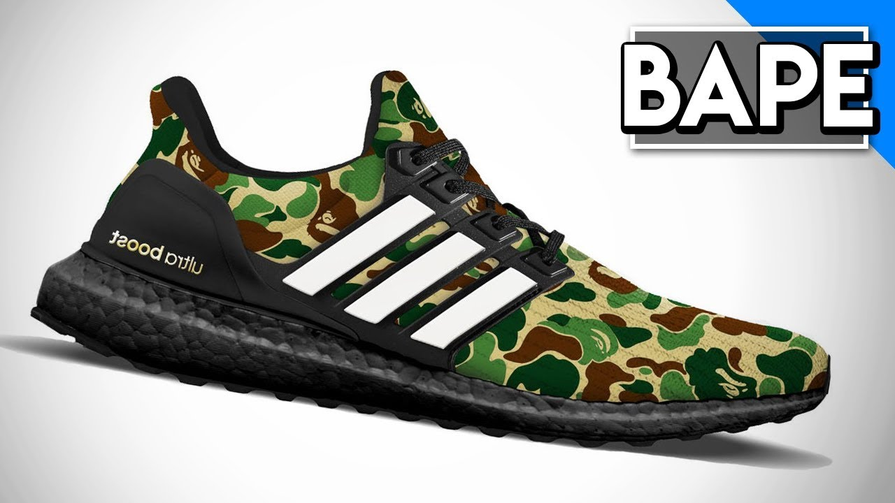 2f286000dc9a5  OFFICIAL RELEASE  BAPE X ULTRABOOST! FIRST LOOK   ARE THEY BETTER THAN BAPE  NMD S