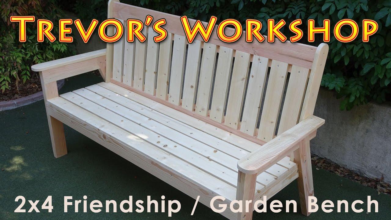 2x4 Friendship Garden Bench Youtube