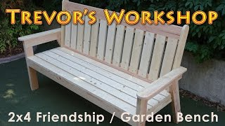 This is a 2x4 garden bench that was painted and installed at an elementary school as a friendship bench. Check out...