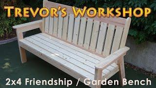 2x4 friendship / garden bench