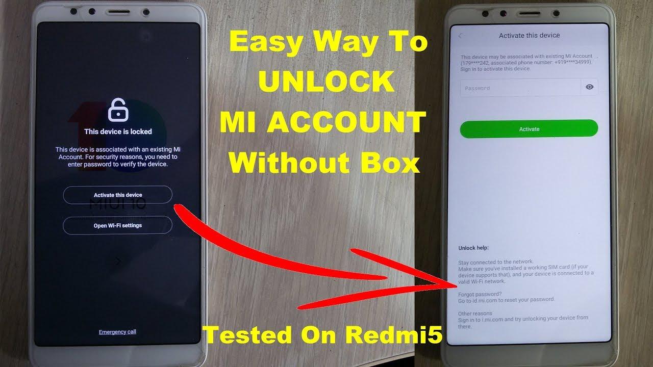 How To Unlock Mi Account Xiaomi Mi Phone // Unlock Mi Account On Mi Redmi 5