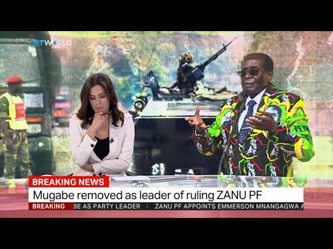 Mugabe removed as leader of ruling party ZANU PF
