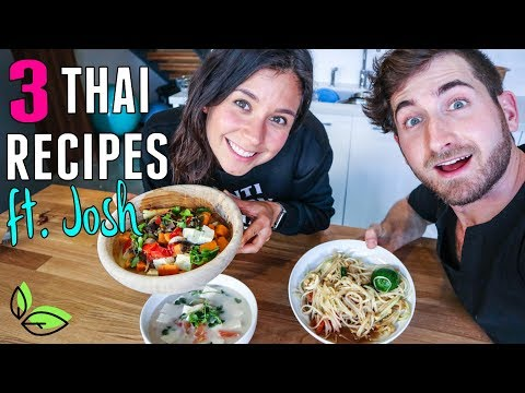 3 VEGAN THAI RECIPES ft. JOSH FROM BROTHERS GREEN EATS!🌿Rawvana