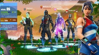 THE RAREST SKINS OF FORTNITE ASSEMBLED IN A SQUAD!...