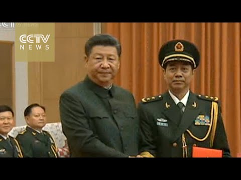 China promotes two officers to general