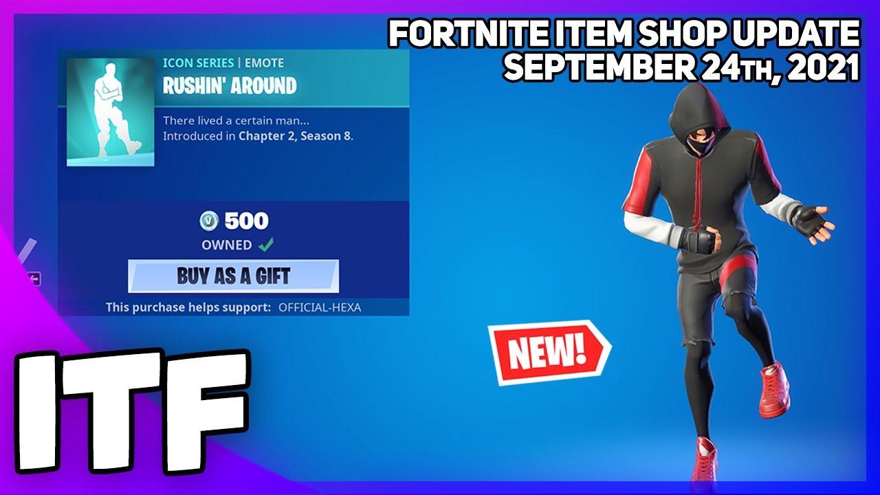 Download Fortnite Item Shop *NEW* RUSHIN' AROUND EMOTE! [September 24th, 2021] (Fortnite Battle Royale)
