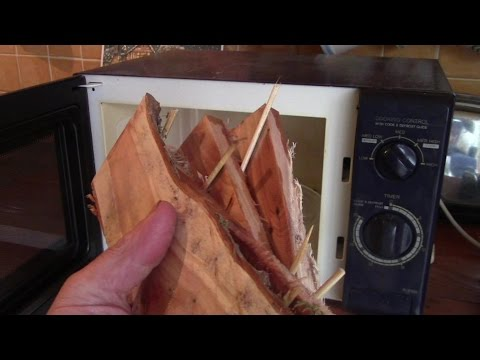 How To Dry Fresh Cut Timber In A Microwave Oven (Yew Wood)