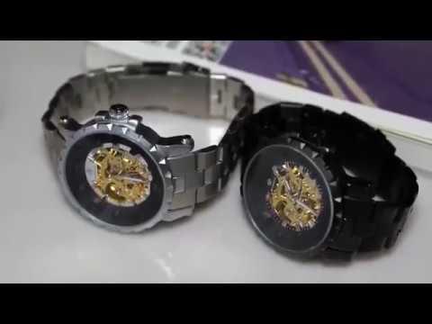 Men Wristwatch Golden Mechanical Male Watch