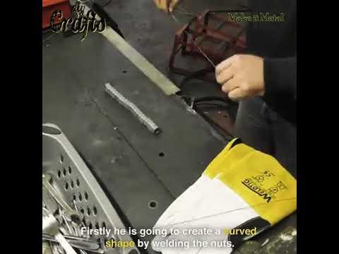 Scrap Metal Art Table Lamp Partner