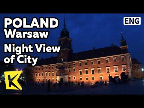 【K】Poland Travel-Warsaw[폴란드 여행-바르샤바]조명 밝힌 도시의 야경/Night View/City