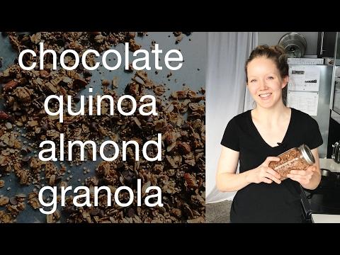 CHOCOLATE QUINOA ALMOND GRANOLA   VEGAN, GF