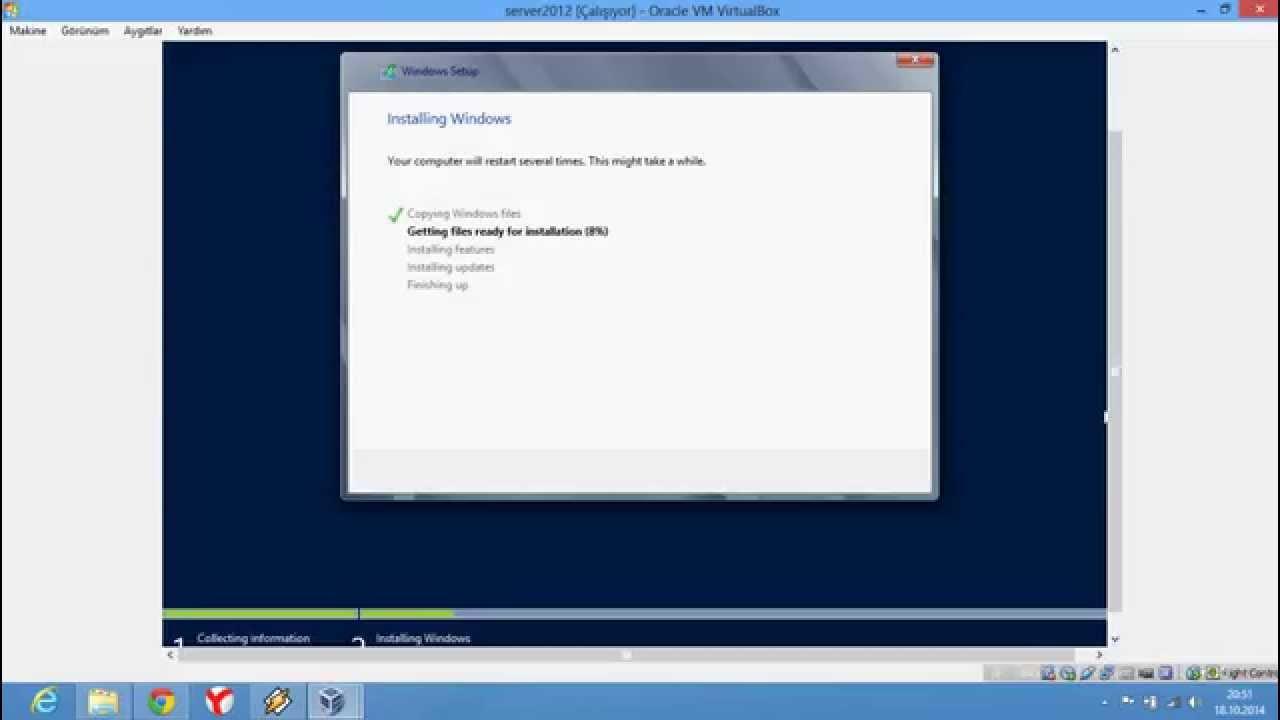 Windows Server 2012 Virtualbox Sanal Makinede Kurulumu ...
