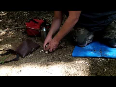 Bow Drill Friction Fire Practice - Primitive Survival Skills