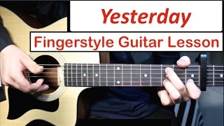 Baixar The Beatles - Yesterday | Fingerstyle Guitar Lesson (Tutorial) How to play Fingerstyle Guitar