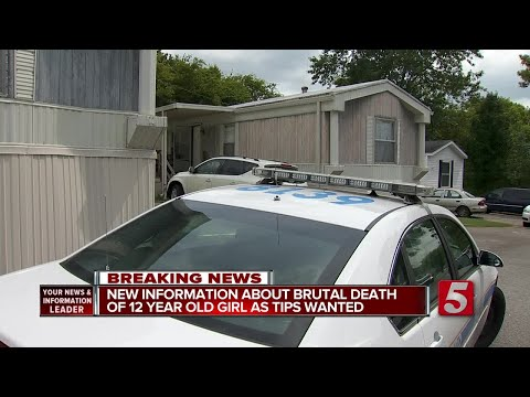 MNPD Ask For Information In 'Brutal Murder' of 12-Year-Old Girl