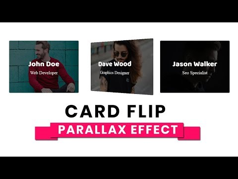 Card Flip Animation with Parallax Effect