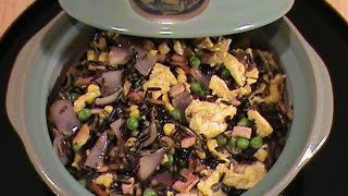Canadian Bacon Fried Rice (wild Rice) - Chinese Cuisine By Chinese Home Cooking Weeknight