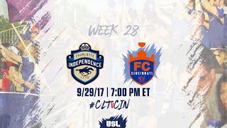 Charlotte Independence vs FC Cincinnati full match