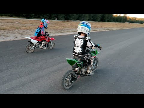 CRF 50 vs SSR 70 Drag Race