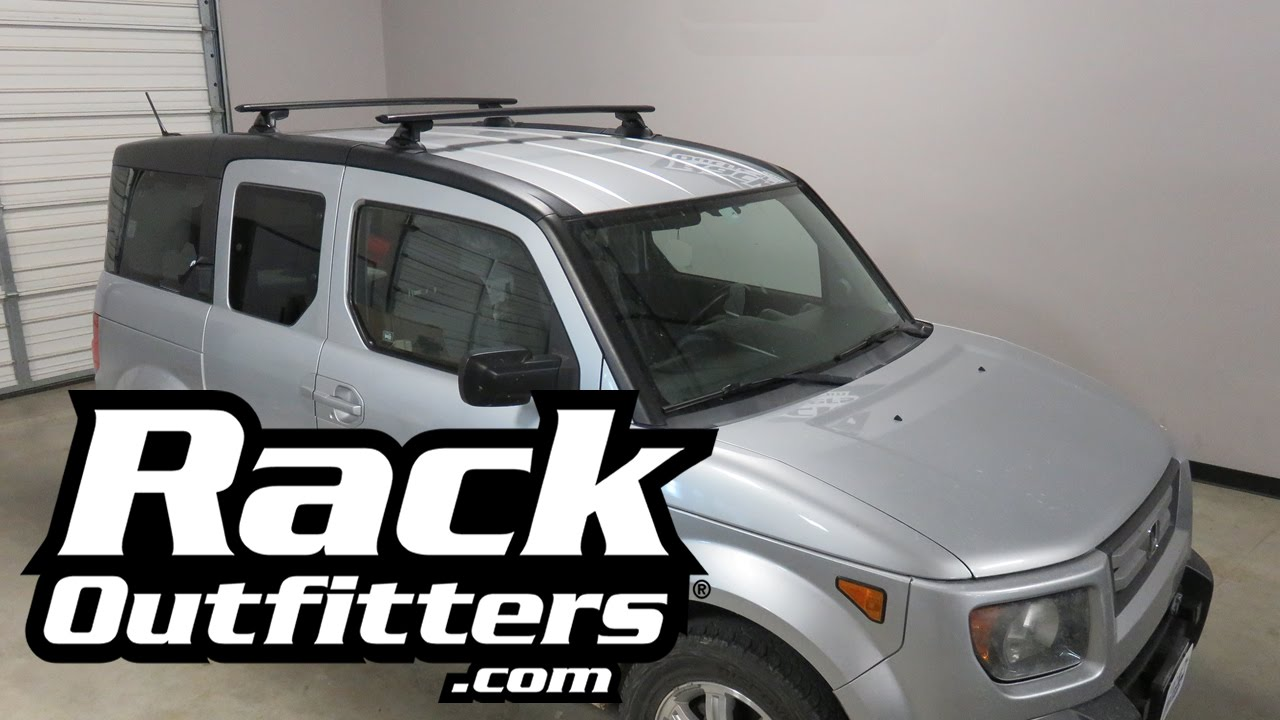 Honda Element With Yakima Skyline Jetstream Roof Rack Youtube