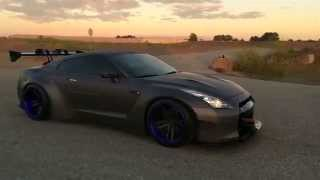 Canada First Liberty Walk Nissan GT-R R35 w/ ARMYTRIX Full Exhaust Mods - Revs & Launch Control!