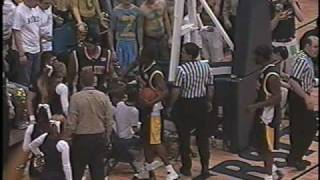 cameraman gets hit by a baseball bat football and basketball players