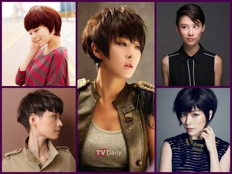 Asian Girls Hairstyle  Korean Girl Short Hairstyle  YouTube