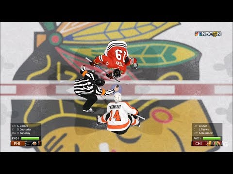 NHL 19 - Chicago Blackhawks vs Philadelphia Flyers - Gameplay (HD) [1080p60FPS]