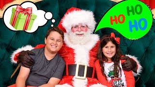 Maria Clara e JP visitam a casa do Papai Noel 🎅 Santa's house for kids