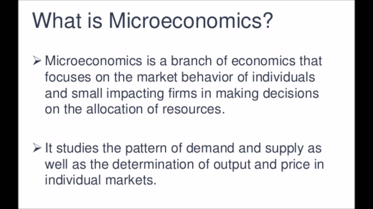 a description of the microeconomics and macroeconomics indicators in business What is macroeconomics 1 macroeconomics  microeconomics macroeconomics simplifies by ignoring differences  appear in the oecd main economic indicators,.