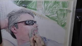 Colored Pencil & PanPastel - Walt In Belize - Time Lapse