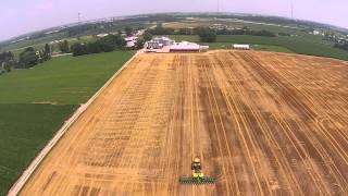 Planting Double Crop Soybeans T K Farms 7-6-2015