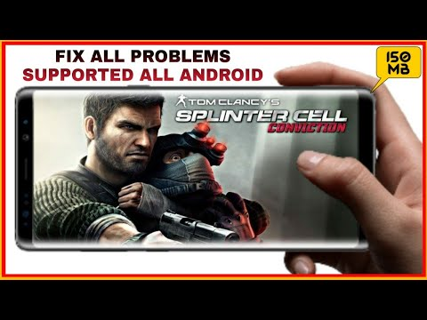 (150 MB) Splinter Cell Conviction HD Fix All Problems Download For All Android Devices With Gameplay