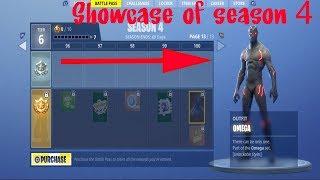 Fortnite Season 4 Battle Pass Item Showcase ( ALL new Items, new skins , new dances )