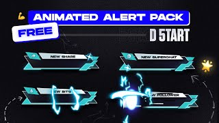 Animated stream alerts free download with SFX - Full Pack D 5tart Stream Alerts