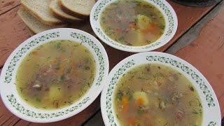 Готовим на даче суп из тушенки!