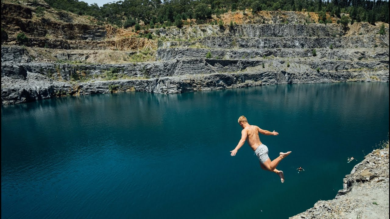 Cliff Jumping At The Quarry Youtube