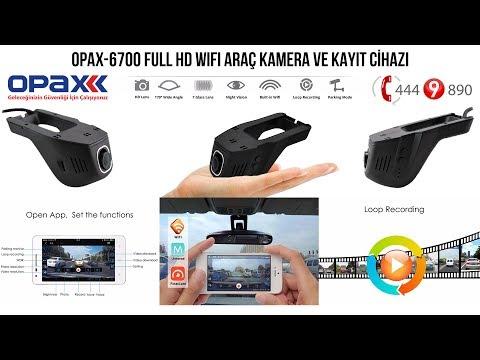 OPAX-6700 1080P FULL HD WIFI ÇİFT LENS ÖN CAM ARAÇ KAYIT KAMERASI TANITIM
