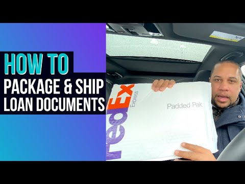 HOW TO PACKAGE AND SHIP LOAN DOCUMENTS | NOTARY LOAN SIGNING AGENT BASICS