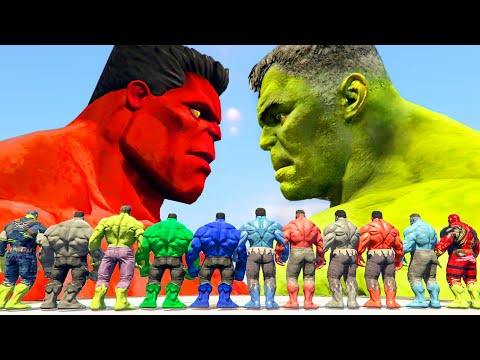 World War Hulk | Blue Hulk vs Hulk vs Red Hulk vs Grey Hulk - What If Battle Superheroes
