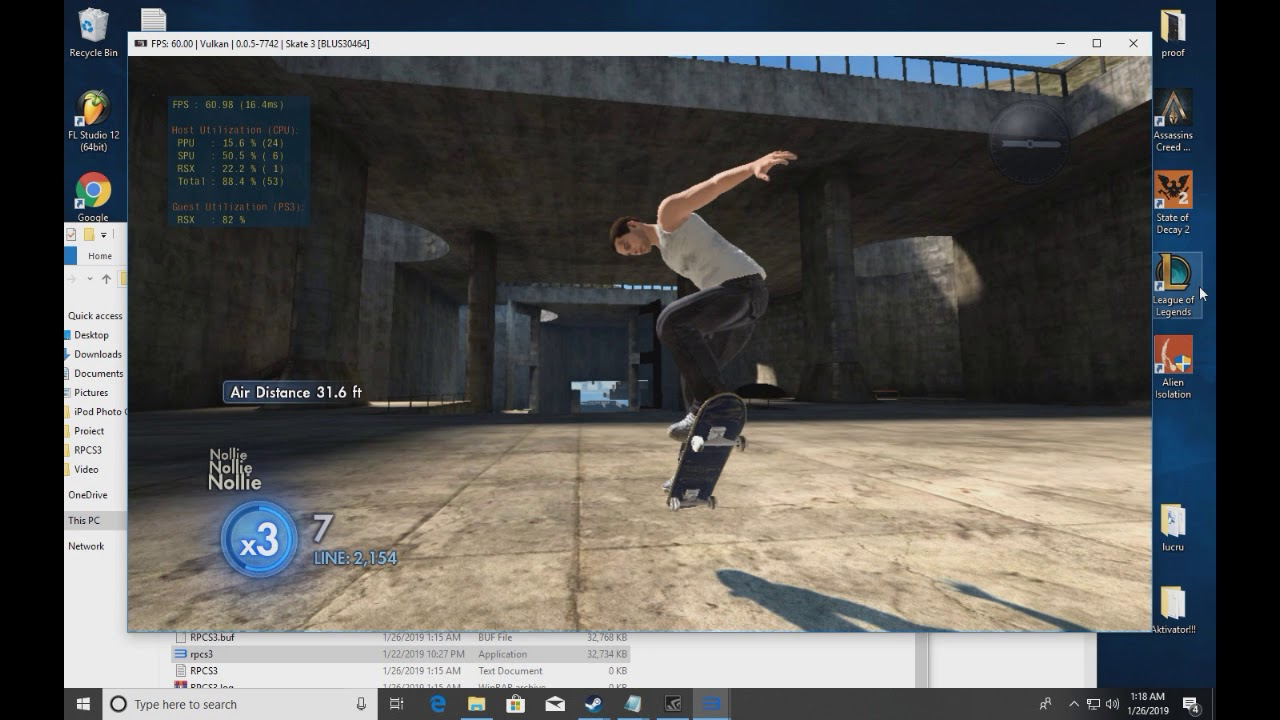 How does RPCS3 perform on a low end pc [SKATE 3] [FAN REQUEST]