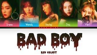 Red Velvet () - Bad Boy (Color Coded HanRomEng Lyrics) correction in subs